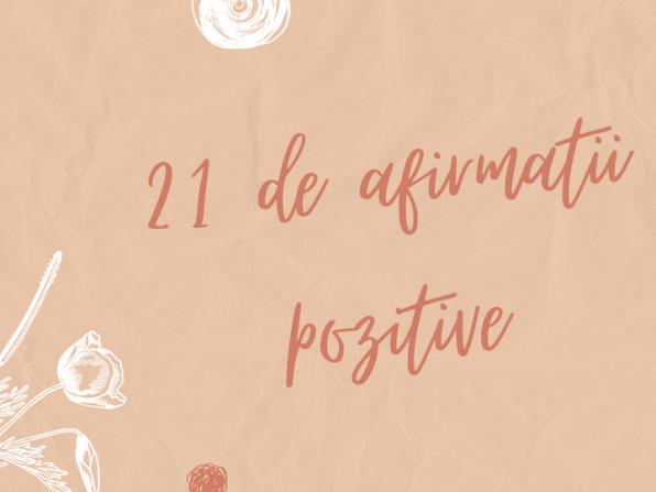 afirmatii pozitive